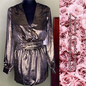 Frame Metallic Dress Sz 0